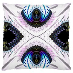 Patterns Fractal Background Digital Large Cushion Case (one Side)