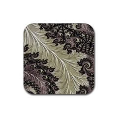Pattern Decoration Retro Rubber Square Coaster (4 Pack)