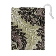 Pattern Decoration Retro Drawstring Pouch (xl)
