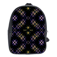 Seamless Background Abstract Vector School Bag (large)