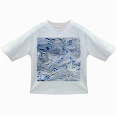 Marbled Paper Mottle Color Movement Blue White Infant/toddler T Shirts