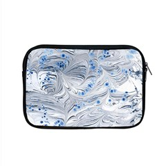 Marbled Paper Mottle Color Movement Blue White Apple Macbook Pro 15  Zipper Case by Wegoenart