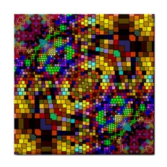 Color Mosaic Background Wall Tile Coasters