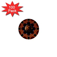 Fractal Space Fantasy 1  Mini Buttons (100 Pack)