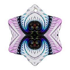 Pattern Texture Fractal Colorful Snowflake Ornament (two Sides)