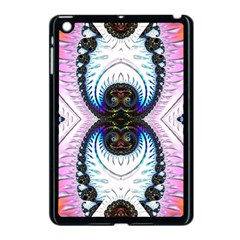 Pattern Texture Fractal Colorful Apple Ipad Mini Case (black)