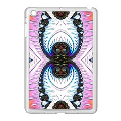 Pattern Texture Fractal Colorful Apple Ipad Mini Case (white)
