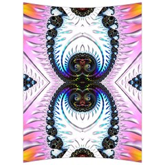 Pattern Texture Fractal Colorful Back Support Cushion by Wegoenart