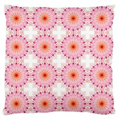 Make A Wish Banner Fractals Pink Large Flano Cushion Case (two Sides)