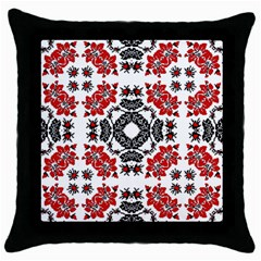 Ornament Seamless Pattern Element Throw Pillow Case (black) by Wegoenart