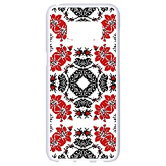 Ornament Seamless Pattern Element Samsung Galaxy S8 White Seamless Case by Wegoenart