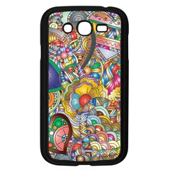 Floral Flourish Hearts Love Samsung Galaxy Grand Duos I9082 Case (black)