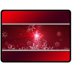Christmas Candles Double Sided Fleece Blanket (large)