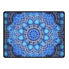 Fractal Mandala Abstract Double Sided Fleece Blanket (small)  by Wegoenart