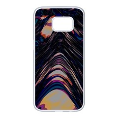 Pattern Texture Fractal Colorful Samsung Galaxy S7 Edge White Seamless Case