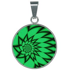 The Fourth Dimension Fractal 25mm Round Necklace