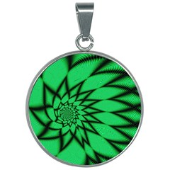 The Fourth Dimension Fractal 30mm Round Necklace by Wegoenart