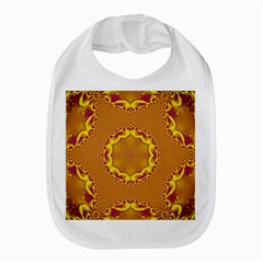 Abstract Fractal Pattern Washed Out Bib