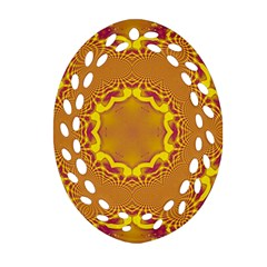 Abstract Fractal Pattern Washed Out Ornament (oval Filigree)