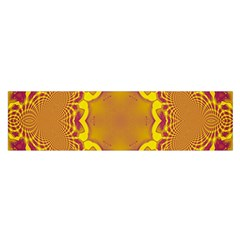 Abstract Fractal Pattern Washed Out Satin Scarf (oblong)
