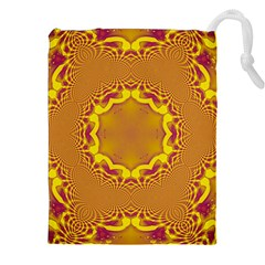 Abstract Fractal Pattern Washed Out Drawstring Pouch (xxl) by Wegoenart