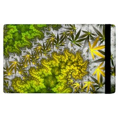 Fractal Mobius Dragon Marijuana Apple Ipad 3/4 Flip Case by Wegoenart