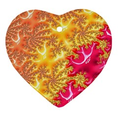 Fractal Math Mathematics Science Heart Ornament (two Sides)