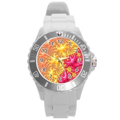 Fractal Math Mathematics Science Round Plastic Sport Watch (l)