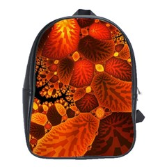 Leaf Autumn Nature Background School Bag (xl) by Wegoenart