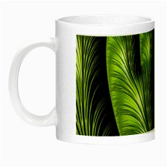 Fractal Background Abstract Green Night Luminous Mugs