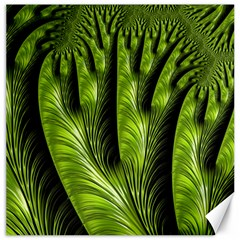 Fractal Background Abstract Green Canvas 20  X 20