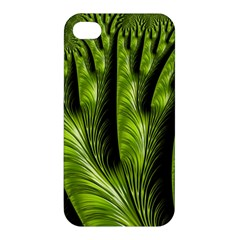 Fractal Background Abstract Green Apple Iphone 4/4s Hardshell Case