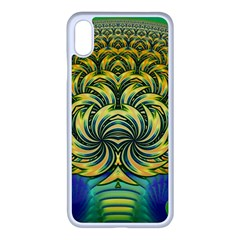 Fractal Tree Abstract Fractal Art Apple Iphone Xs Max Seamless Case (white)