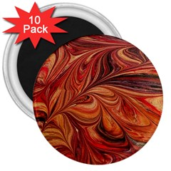 Marbled Paper Mottle Color Movement 3  Magnets (10 Pack)  by Wegoenart