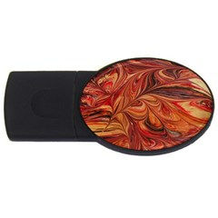 Marbled Paper Mottle Color Movement Usb Flash Drive Oval (2 Gb) by Wegoenart