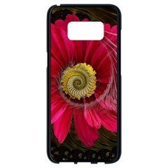 Fantasy Flower Fractal Blossom Samsung Galaxy S8 Black Seamless Case