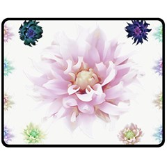 Abstract Transparent Image Flower Double Sided Fleece Blanket (medium)  by Wegoenart