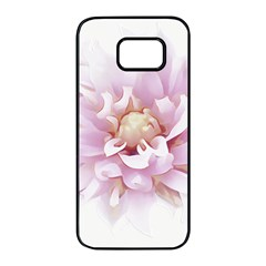 Abstract Transparent Image Flower Samsung Galaxy S7 Edge Black Seamless Case by Wegoenart