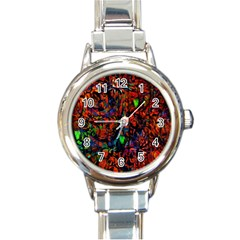 Dance  Of The  Forest 1 Round Italian Charm Watch by Azure