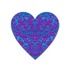The Eyes Of Freedom In Polka Dot Heart Magnet by pepitasart