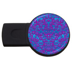 The Eyes Of Freedom In Polka Dot Usb Flash Drive Round (2 Gb)