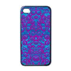 The Eyes Of Freedom In Polka Dot Apple Iphone 4 Case (black) by pepitasart