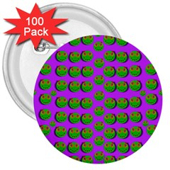 The Happy Eyes Of Freedom In Polka Dot Cartoon Pop Art 3  Buttons (100 Pack)