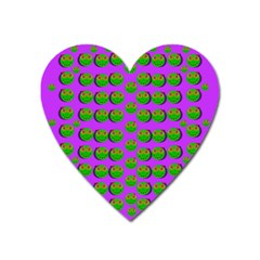 The Happy Eyes Of Freedom In Polka Dot Cartoon Pop Art Heart Magnet by pepitasart