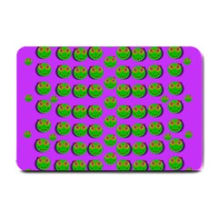 The Happy Eyes Of Freedom In Polka Dot Cartoon Pop Art Small Doormat  by pepitasart