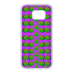 The Happy Eyes Of Freedom In Polka Dot Cartoon Pop Art Samsung Galaxy S7 Edge White Seamless Case by pepitasart