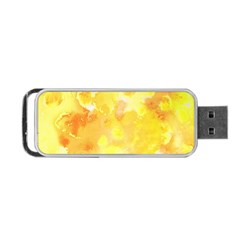 Yellow Party Portable Usb Flash (two Sides)