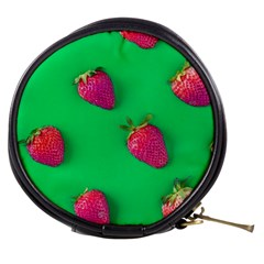 Strawberry Green Mini Makeup Bag