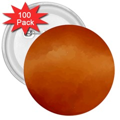 Orange Watercolor 3  Buttons (100 Pack)