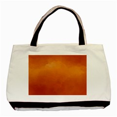 Orange Watercolor Basic Tote Bag (two Sides)